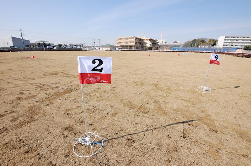 全面天然芝のコース(8ホール×2面)